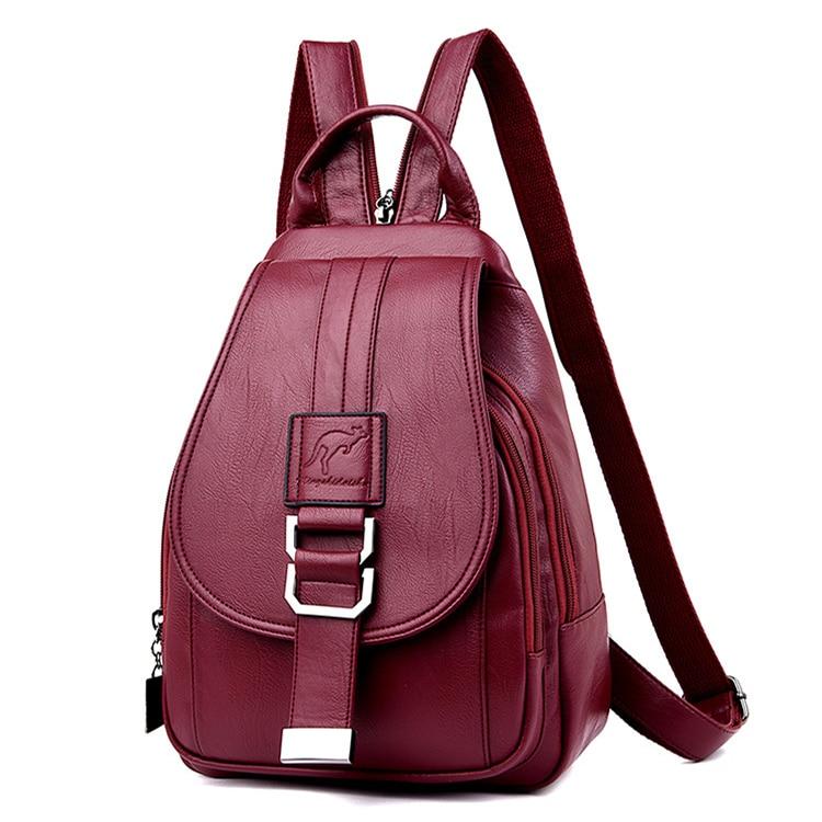 Женский рюкзак MANHAN, модный однотонный школьный рюкзак из мягкой искусственной кожи для девочек подростков, 2020|Рюкзаки|   | АлиЭкспресс