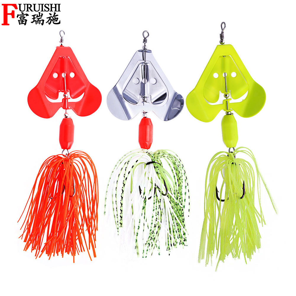 Chatterbait Buzzbait Bass Fishing Lure Fishing Tackle Baits Topwater Blade-0