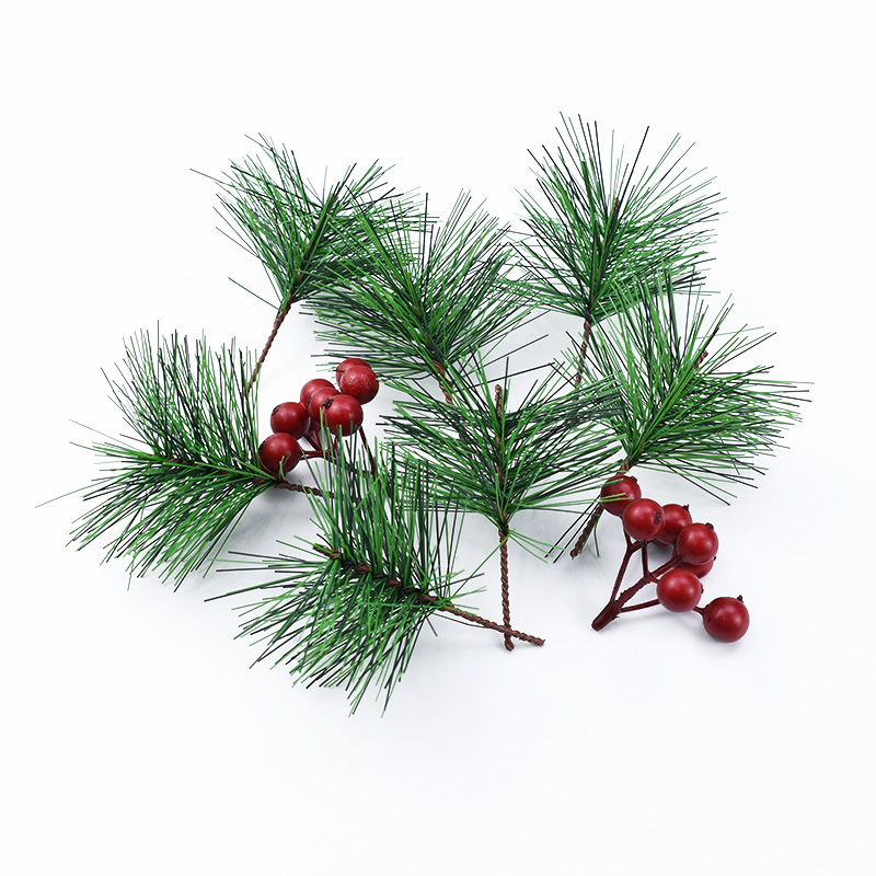 5/10pcs Pine Needle Christmas Accessories Vase For Home Decor Artificial Plants Bridal Brooch Decorative Flower Wreath Diy Gift