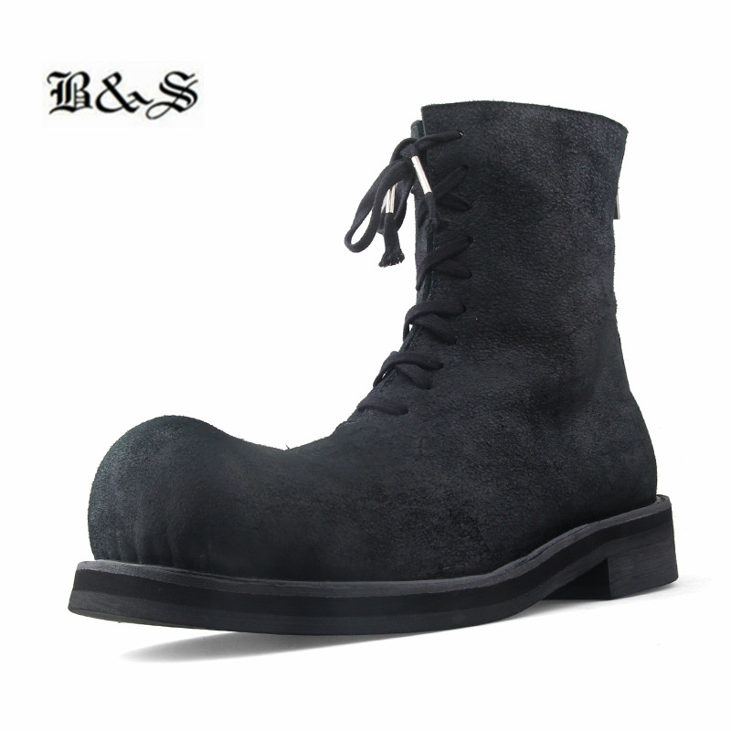 Big Toe Retro Heavy Handmade Punk Darkness Wizard Men Boots Genuine Leather Personalized Luxury Boots