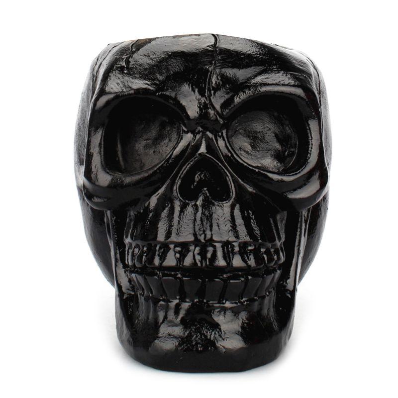 Black Skull Ornament Skeleton Pen Holder Desktop Pencil Organizer Makeup Storage AXYF