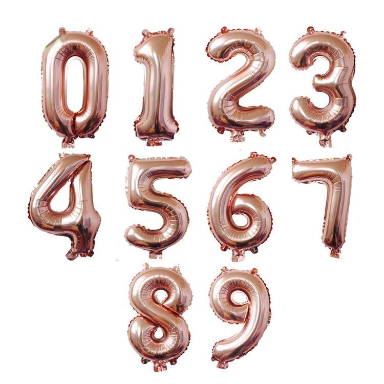Большой размер, золотые, серебряные, розовые, золотые цифры, воздушные шары для дня рождения, свадьбы, вечеринки, Детские шары-2