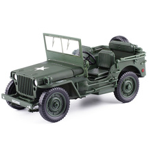 1:18 Model Jeeps Old World War II Willys Vehicles Alloy Car Model for Kids Toys Gifts цена 2017