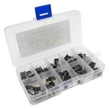 100 Pçs/lote Em uso comum DIP IC kit NE555 UC3842 UC3843 UC3845 24C02 24C04 24C08 24C16 24C32 24C64 DIP cada 10PCS igmopnrq