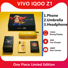 Original iqoo z1 edição de uma peça mediatek 1000 mais o telefone móvel 4500mah 44w carregador rápido 144hz refresca a taxa telefone celular