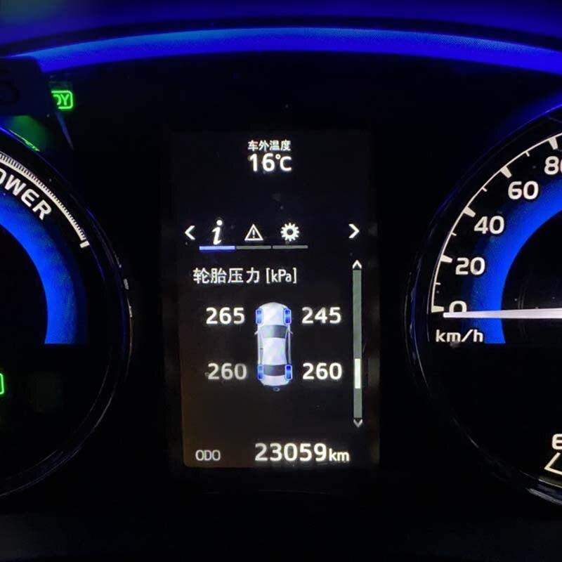 Tire Pressure Monitoring Car Tire Dashboard display Tire pressure monitor For Toyota Corolla altis 2019 2020 Auto Accessories