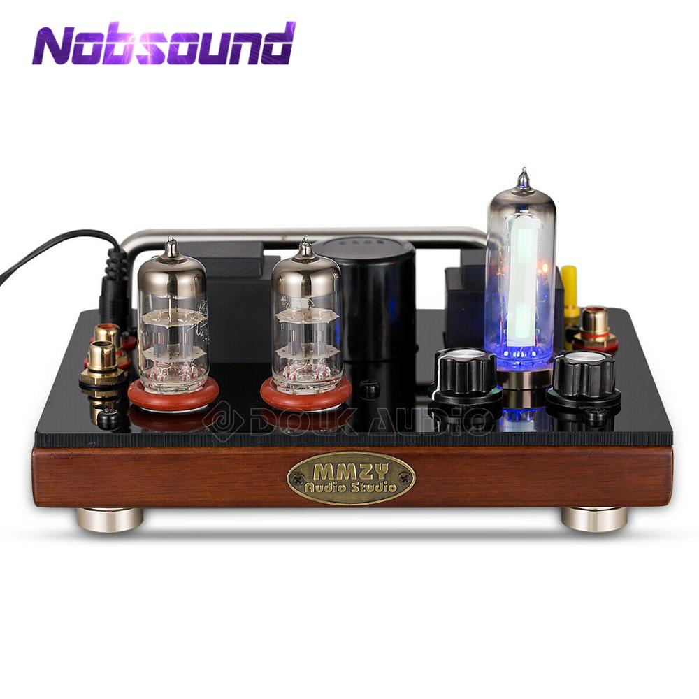 Nobsound Vintage Wooden 6J1 Vacuum Tube Mono FM Radio Audio Receiver To Passive Active Speaker