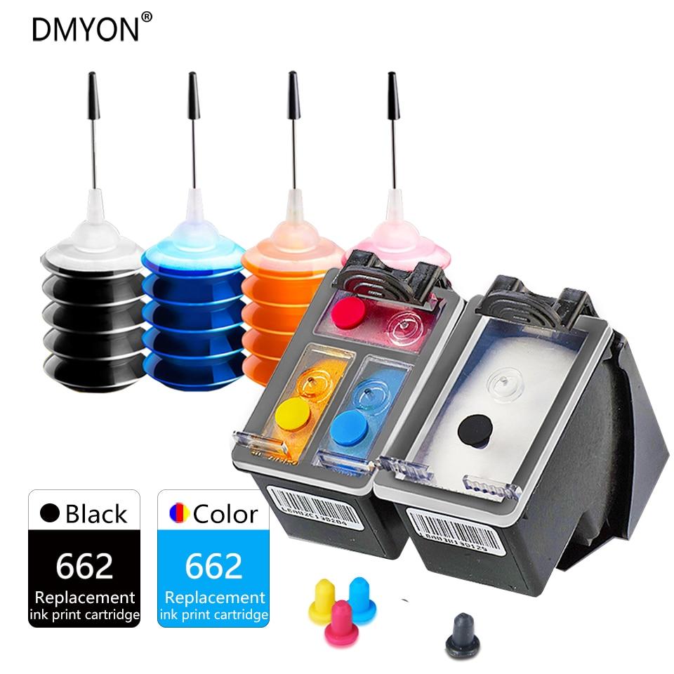DMYON 662XL Ink Cartridge Compatible For Hp 662 For Deskjet 1015 1515 2515 2545 2645 3545 4510 4515 4516 4518 Printer Cartridges
