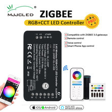 GLEDOPTO ZIGBEE 3.0 RGBWW RGBCCT LED Strip Controller Pro Smart Phone APP Voice Control Work with Alexa Echo Plus SmartThings