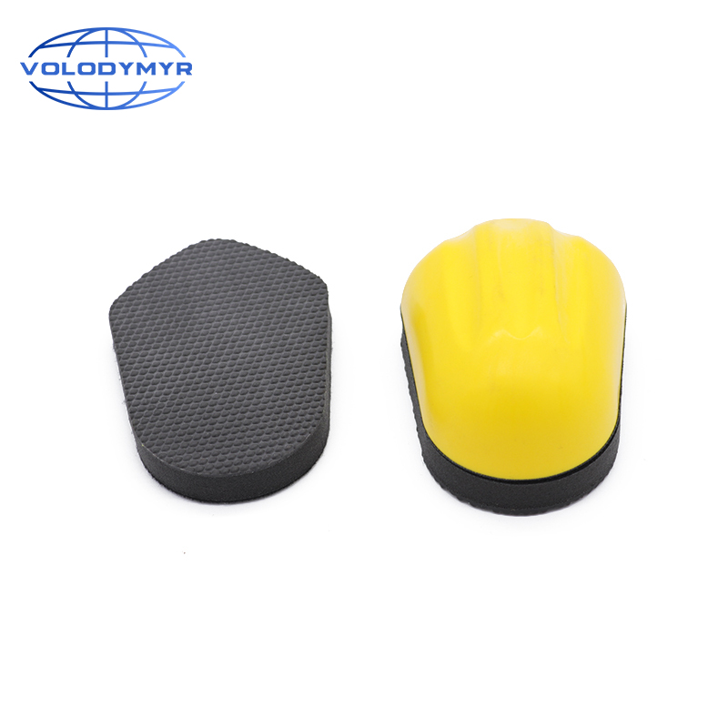 Magic Car Cleaning Clay Sponge With Rubber Handle 2pcs Pads For Remove Water Spots Paint Overspray And Rail Dust Auto Detailing