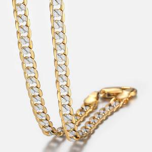 Gold Chain Necklace for Men Women Cuban Link Chains Mens Womens Necklaces Wholesale 2019