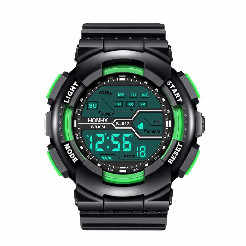 Reloj هومبر الرقمية الرياضة ووتش للماء الرجال الصبي LCD ساعة توقيت رقمية تاريخ المطاط الرياضة ساعة معصم ساعة رقمية
