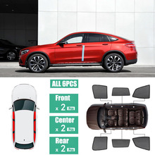 Side Windows Magnetic Sun Shade UV Protection Ray Blocking Mesh Visor Fit For Mercedes Benz GLC 2016-2018