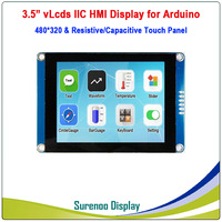 3.5 480*320 Serial I2C IIC vLcds HMI Intelligent Smart TFT LCD Module Display Resistive Capacitive Touch Panel for Arduino