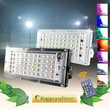 Светодиодный прожектор Kaguyahime, 50 Вт, 220 В, уличная лампа, водонепроницаемый точечный светильник IP65, фокусный отражатель, светодиодный светильник, уличсветильник прожектор холодного белого света