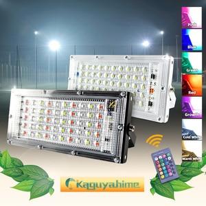 Image 1 - Светодиодный прожектор Kaguyahime, 50 Вт, 220 В, уличная лампа, водонепроницаемый точечный светильник IP65, фокусный отражатель, светодиодный светильник, уличсветильник прожектор холодного белого света