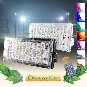 Image 1 - Kaguyahime LED Floodlight 50W 220V Street Lamp Waterproof IP65 Spotlight Reflector focus LED Light Outdoor Cold White Spot Light