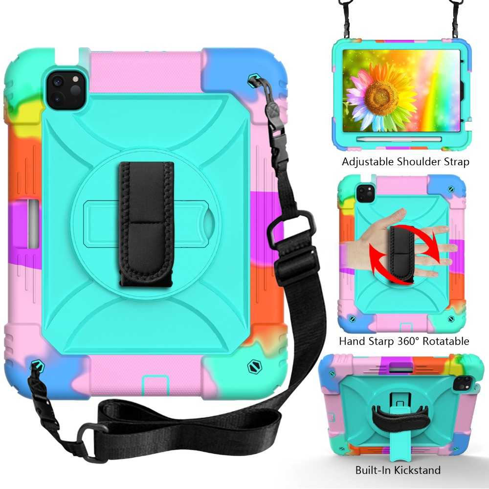 Layers For iPad Armor Kids Case 4 for 10.9 2020 3 Hybird Air Shockproof iPad Case Tablet