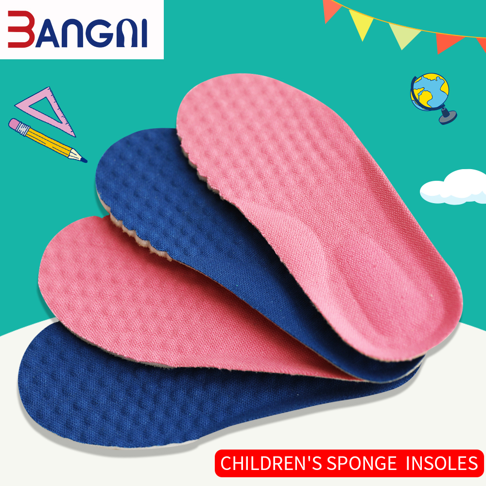 3ANGNI Kids Orthopedic Insoles For Shoes Children Flat Foot Arch Support Orthotic Pads Sponge Breathable Health Feet Care Insole