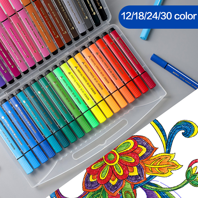 12/24/18/36 Color Washable Watercolor Pen Set Kids Student Drawing Graffiti Water Color Copic Pens Markers School Gift Supplies
