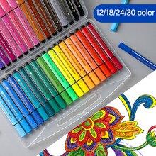 12/24/18/36 di colore Lavabile Acquerello Penna Set Per Bambini Studente di Disegno Graffiti Colori A Acqua Copic Penne Marcatori Scuola Regalo forniture