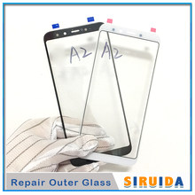 10pcs LCD Front Outer Lens with OCA Glue For Xiaomi A2 Touch Screen Glass Replacement(China)