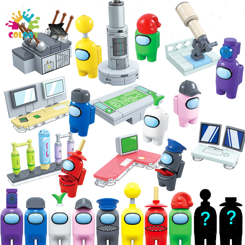 Новинка, детские игрушки 8 шт./лот, модель среди нас, строительные блоки, мини-игрушки, фигурки, кирпичи, идеар, творческие игрушки «сделай сам...