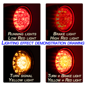 Image 3 - 1pair Motorcycle Turn Signal Indicator Lamp Light Retro Bullet Diamond Black LED Blinker Light for Moto Motorbike Motorcycle