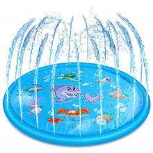 Water Mat Childrens Play Baby Games Beach Inflatable Spray Cushion Toys