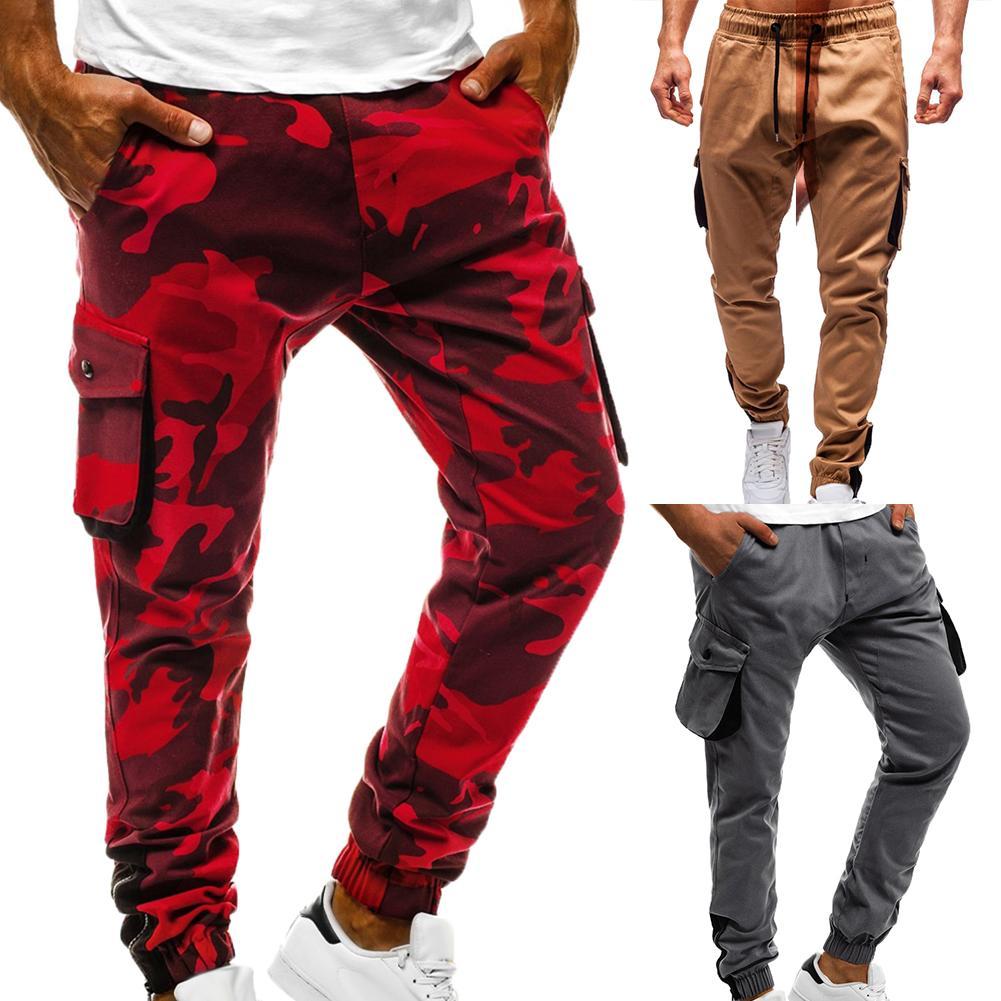 Pantalones Cargo Para Hombre Hip Hop Harem Joggers Pantalones Para Hombre Solido Multi Bolsillo Pantalones Ajustados Pantalones De Chandal Pantalones Informales Aliexpress