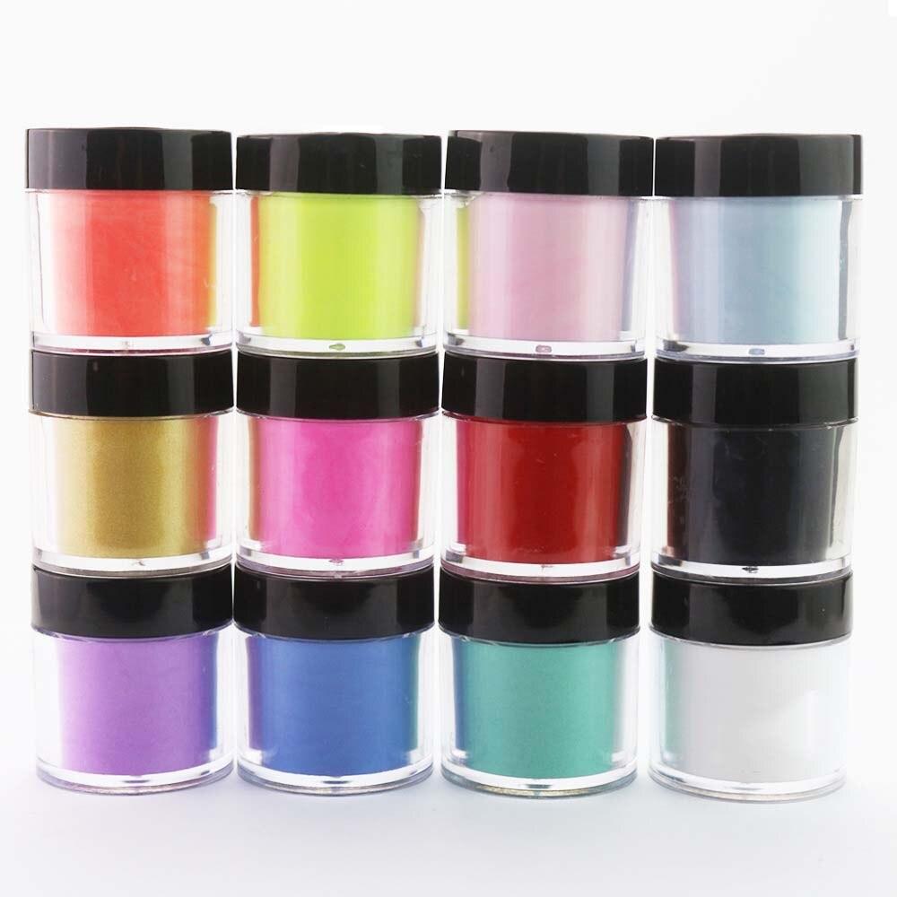 12 garrafa conjunto 12 cores acrílico pó