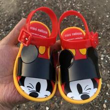 Melissa Sandals Jelly-Shoes Frozen-Minnie Baby Princess Summer Disney Brand Mouse Lovely