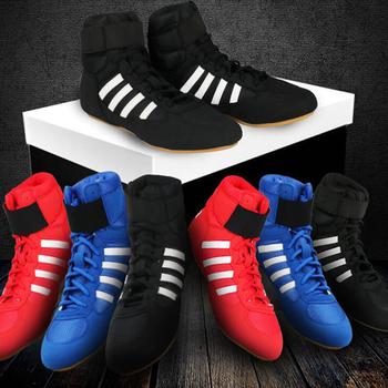 2020 wysokiej jakości męskie buty zapaśnicze wysokiej talii buty bokserskie krowa mięśni podeszwa oddychająca profesjonalne zapasy biegów dla kobiet tanie i dobre opinie pscownlg Oświetlony Oddychające Masaż Wodoodporna Spring2019 Pasuje prawda na wymiar weź swój normalny rozmiar wrestling shoes