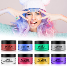 Sevich 150g 8 Colors Disposable Hair Color Wax Women Men Styling DIY Mud Paste Dye Cream Gel Salon Coloring Molding