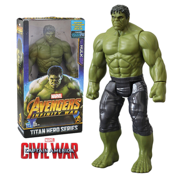 Disney Marvel Superhero Peripheral Avengers:Infinity War Hulk Action-Figure Toy Model Furnishing Articles Boys Girls Gift [new] the walking dead zombie head action figure model resin crystal car ornament home desk decoration furnishing articles gift