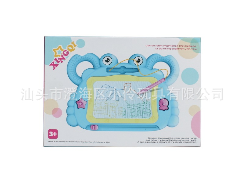 CHILDREN'S Cartoon Color Drawing Board Color Crab Magnetic Drawing Board Baby Writing Board Stall Hot Selling