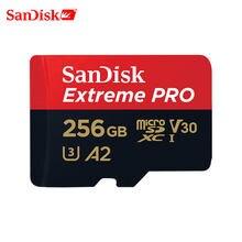 SanDisk Extreme PRO Cartão Micro SD Leia a Velocidade de 170 MB/s 128 GB GB U3 64 V30 A2 Cartão de Memória SDXC cartão de memória flash TF Cartão 4 K UHD para a Câmera
