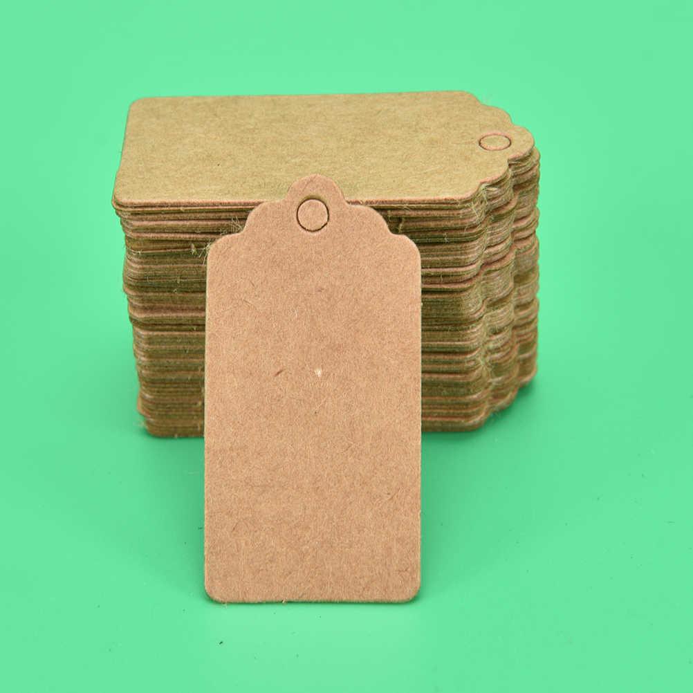 의류에 대 한 100Pcs 크 래 프 트 가격 태그 DIY 선물 크리스마스 웨딩 파티 장식 용품 사각형 종이 레이블 4x2cm