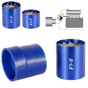 Image 3 - Ładowarka samochodowa turbina F1 Z Turbo ładowarka pojedynczy podwójny filtr wlotowy powietrza wentylator zestaw oszczędzania paliwa gazowego część zamienna