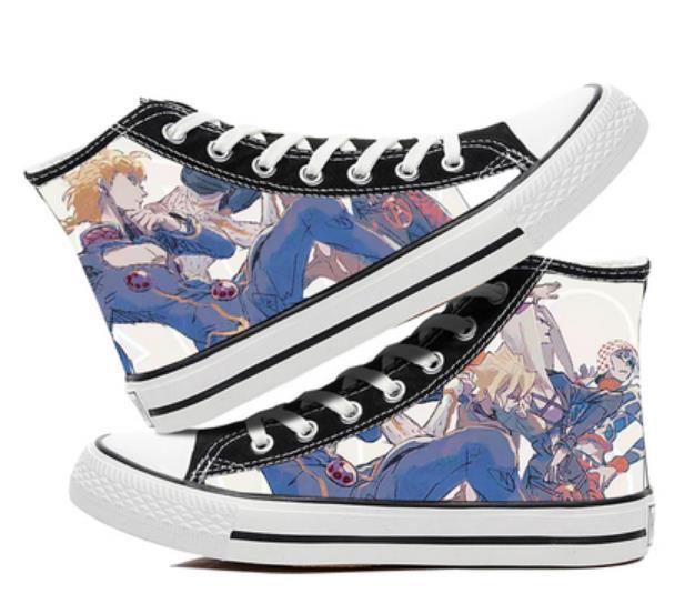 Anime cartoon students high help cosplay cos JoJo's Bizarre Adventure shoes canvas fashion shoes casual comfortable men women 3