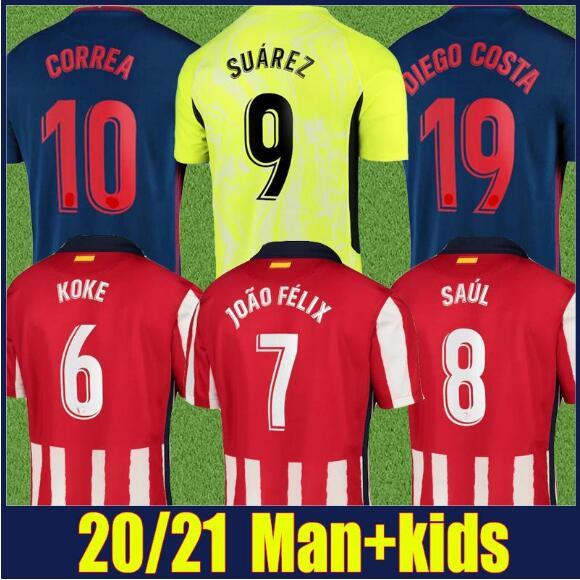 Suarez 2020 de madrid de 2021 camisa de futebol Atlético 20 21 joao Félix correa lucas costa koke saul godin luis camisa|Camisetas| - AliExpress