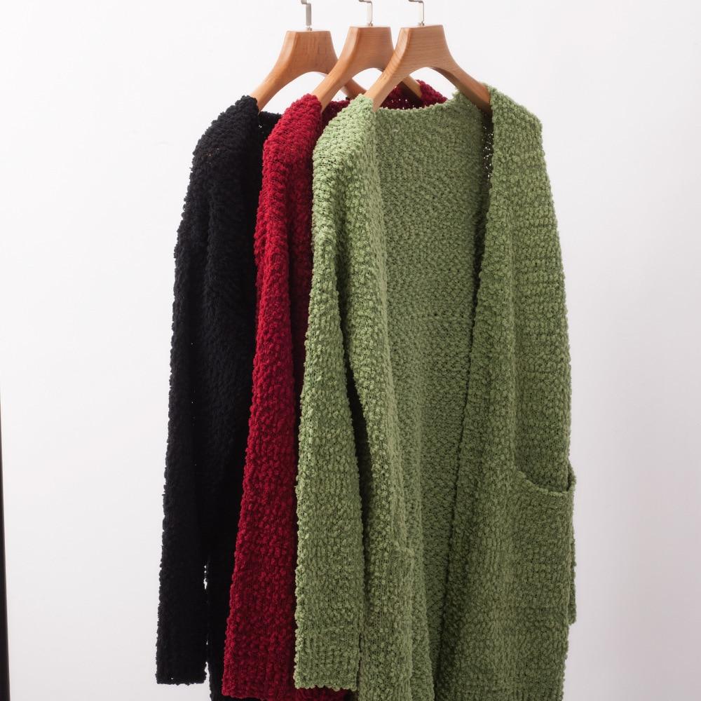 2019-2020 New Autumn Winter Women's Loose Long Sleeve Korean Knit Sweater Cardigan Coat Thick Winter Women Cardigans Sweater