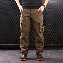 FALIZA męskie spodnie Cargo wiele kieszeni styl wojskowy spodnie taktyczne bawełniane męskie znosić proste spodnie na co dzień dla mężczyzn CK102