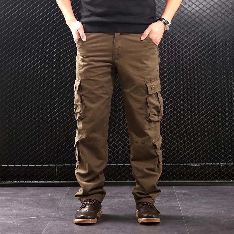 Faliza Pantalones Cargo De Estilo Militar Para Hombre Varios Bolsillos Tacticos De Algodon Prendas De Vestir Pantalones Informales Rectos Ck102 Pantalones Informales Aliexpress
