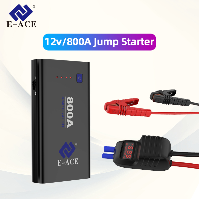 E-ACE M01 Jump Starter Power Bank Starting Device Booster Car Battery Starter 800A Auto Buster Car Emergency Booster