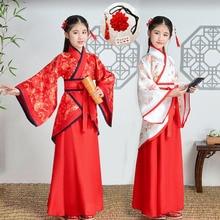 Китайская одежда принцессы для костюмированной вечеринки; рождественское нарядное платье для девочек; Детские костюмы на год и Хэллоуин для девочек