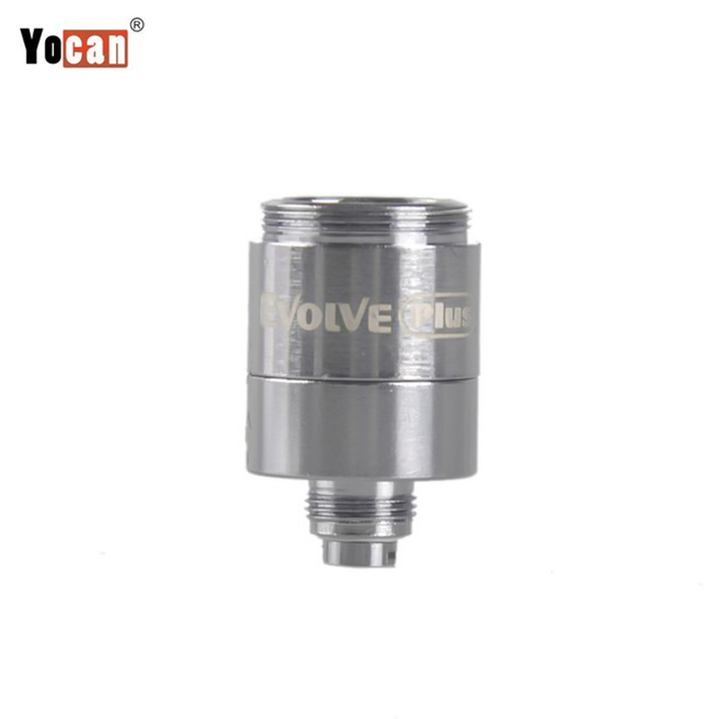 100 Authentic YOCAN Evolve Plus Coils Quartz Dual Ceramic Core For Yocan Plus Wax Vape Kit E cigs 5pcs lot in Electronic Cigarette Accessories from Consumer Electronics