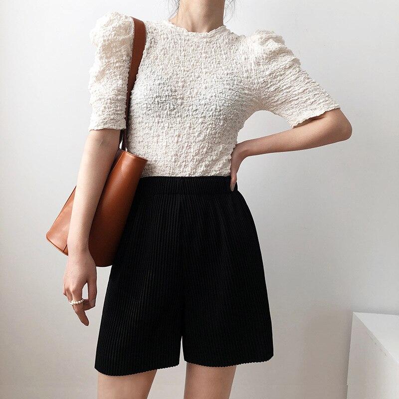 Shorts Women Double Breasted Fashion Elegant Office OL Short Female 2020 New  White
