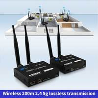 200 m 무선 wifi hdmi 송신기 수신기 ir 원격 hdmi extendertransmitter 수신기와 2.4 ghz/5 ghz 1080 p 로컬 루프 아웃