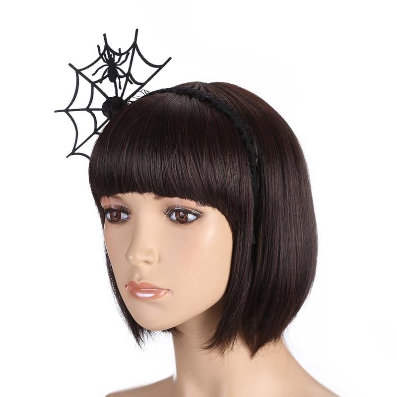 Miraculous 2019 Fashion Cool Spider Web Design Halloween Headband Prom Natural Hairstyles Runnerswayorg